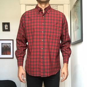 NWOT Pendleton Wool Plaid Button Down Red